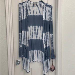 Women's Tye Dye Thermal Cardigan